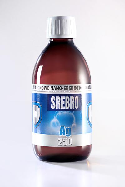 NIEJONOWE NANO-SREBRO KOLOIDALNE AG 250 (300 ml)