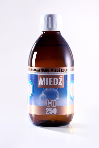 NANO-MIEDŹ KOLOIDALNA Cu 250 (300ml)