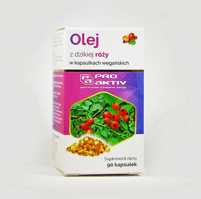 OLEJ Z DZIKIEJ RÓŻY (90 kapsułek wegańskich, 400 mg)