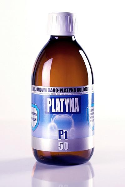 NIEJONOWA NANO-PLATYNA KOLOIDALNA PT 50 (300 ml)