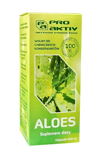 SOK Z ALOESU (SOK BEZ CHEMICZNYCH KONSERWANTÓW) (500 ml)